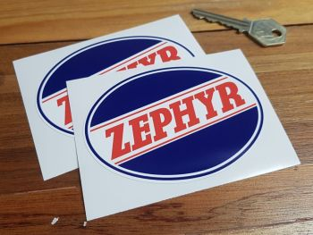"Zephyr Oval Logo Stickers 4"" Pair"