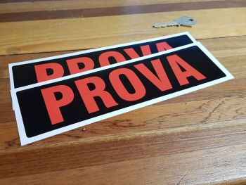 "Prova Red & Black Oblong Stickers 8.75"" Pair"