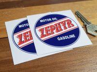 Zephyr Motor Oil Gasoline Circular Stickers 3