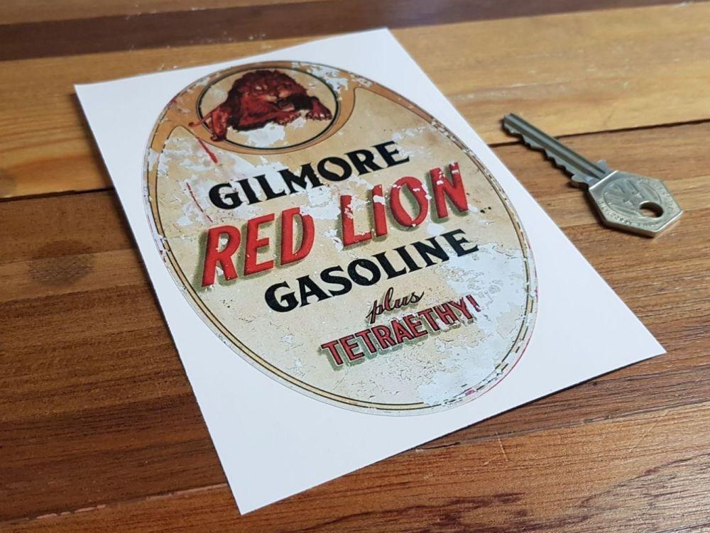 Gilmore Red Lion Gasoline Distressed Sticker 6