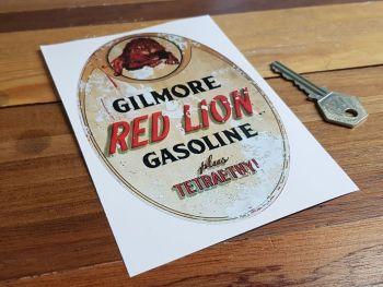 """Gilmore Red Lion Gasoline Distressed Sticker 6"""""""