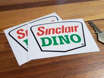 """Sinclair Dino Shaped Stickers 4"""" Pair"""