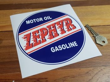Zephyr Motor Oil Gasoline Circular Sticker 6""