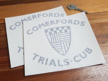"Comerfords Trials Cub Cut Vinyl Stickers 6"" Pair"