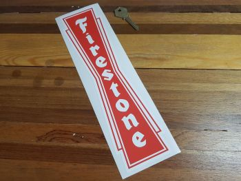 Firestone Vertical 30's Style Sticker 12""