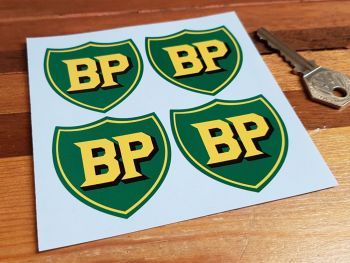 BP Pre '58 Style Shield Stickers. Set of 4. 50mm.