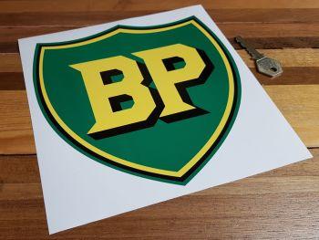 "BP Pre '58 Style Shield Sticker. 8""."