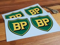 "BP Pre '58 Style Shield Stickers. 2"", 3"", 4"" or 6"" Pairs."