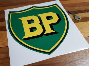 "BP Pre '58 Style Tall Shield Sticker 9"""
