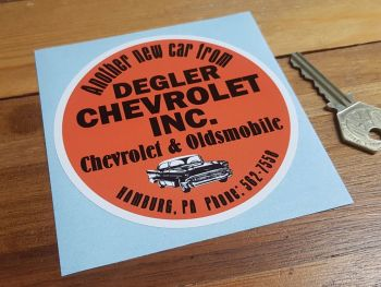 "Chevrolet & Oldsmobile Dealer Sticker. 4""."