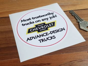 "Chevrolet Advance-Design Trucks Sticker. 4""."