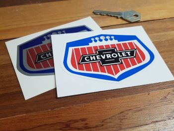 "Chevrolet Old 'Grill' Style Stickers. 4"" Pair."