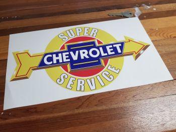 "Chevrolet Super Service Arrow Sticker. 12""."