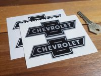 Chevrolet. Dicky Bow. Black & Silver/White Stickers. 4