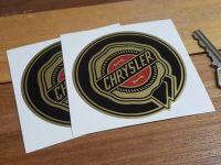 Chrysler Gold Circular Logo Stickers. 3