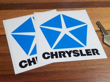 "Chrysler Logo Stickers. 4"" Pair."