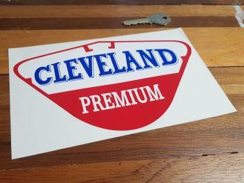 """Cleveland Premium Petrol Pump Sticker. 8"""" or 12""""."""