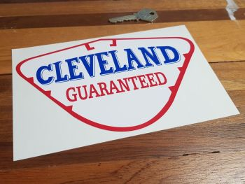 "Cleveland Guaranteed Petrol Pump Sticker. 8"" or 12""."