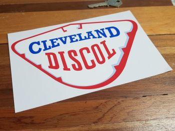 """Cleveland Discol Petrol Pump Sticker. 6"""", 8"""" or 12""""."""