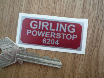 "Girling Powerstop 6204 Sticker. 2""."