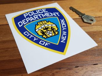 Police Department City of New York Shield Sticker 5""