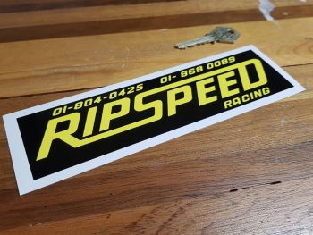 Ripspeed Racing Oblong Sticker 8""