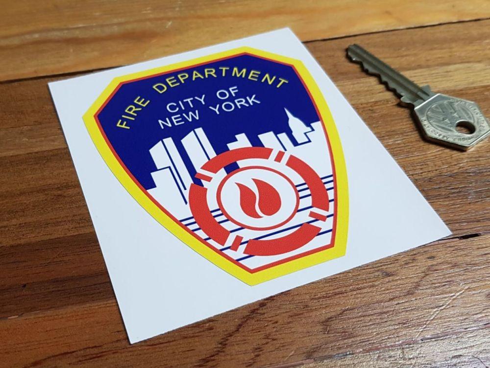 Fire Department City of New York Shield Sticker 4