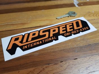 "Ripspeed International Shaped Sticker 8"" or 12"""