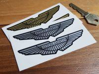 Aston Martin Winged Logo Stickers. Various Sizes.