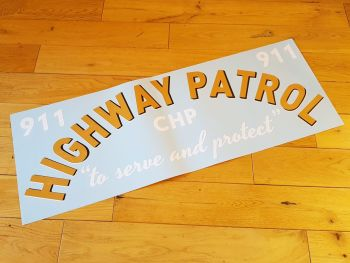 "California Highway Patrol Curved Text Car Sticker. 29"". Slight Second 122."