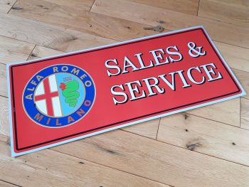 "Alfa Romeo Sales & Service Sticker. 24"". Slight Second 052."