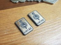 Lucas Electrical Ltd. Oblong Gold Style Self Adhesive Badges - 18mm Pair
