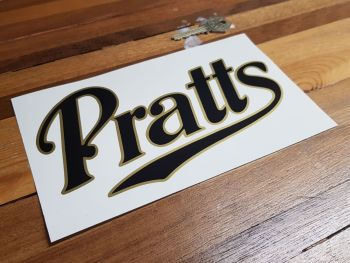 "Pratt's Gold with Black Middle  Cut Vinyl Sticker - 8"""