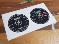 Pedal Car Vintage Style Dashboard Stickers Set - 45mm, 60mm, or 70mm