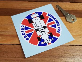 """Hesketh Racing For Britain Union Jack Sticker 3.5"""""""