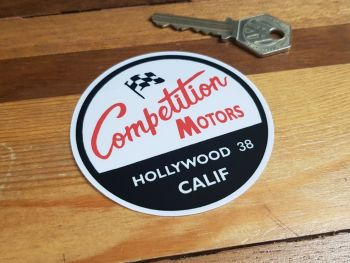 """Competition Motors Hollywood California Dealer Sticker 3"""""""