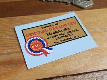"""BMC Central Garage Ltd Bradford Dealers Sticker 2.5"""""""