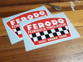 "Ferodo Formula Two-Four Disc Brake Pads Stickers 5.5"" Pair"