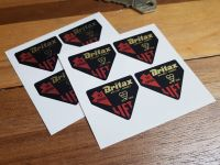 Britax 'Lift to Open' Seatbelt Stickers. Set of 4. 40mm.