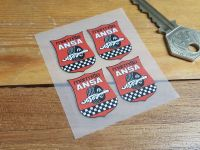 ANSA Marmitte Exhausts Heat Resistant Stickers - Set of 4 - 28mm