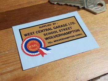 """BMC West Central Garage Wolverhampton Dealers Sticker 2.5"""""""