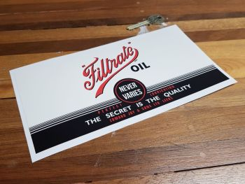 Filtrate Oil Can Wrap Sticker 9""