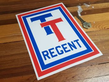 Regent TT Oblong Sticker 8.75""