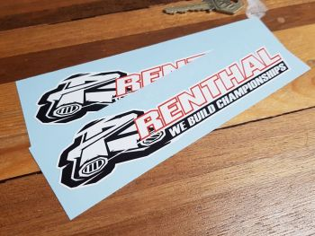 """Renthal We Build Championships Stickers 7"""" Pair"""