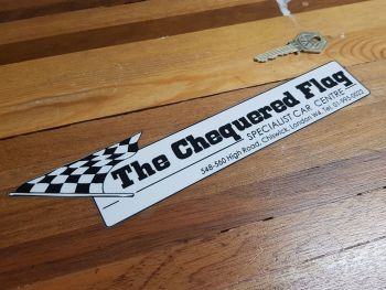 The Chequered Flag Specialist Car Centre London Dealer Sticker 10""