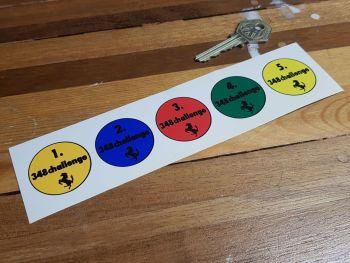Ferrari 348 Challenge Stickers -35mm - Set of 5