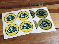 Lotus Wheel Centre With Black Outline Stickers Coloured. 50mm Set of 4.