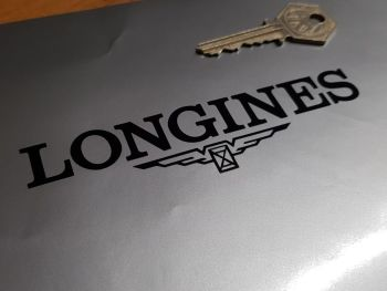 "Longines Cut Vinyl Stickers. 5"" or 7.5"" Pair."