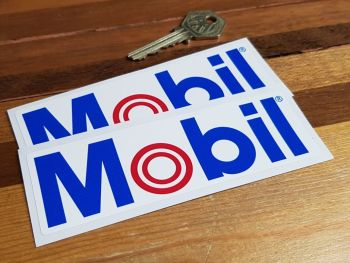"Mobil 'O' Style Oblong Stickers. 5"" Pair."