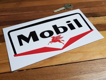 "Mobil Gas Station Stickers. 4"" or 8"" Pair."
